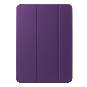 Tri-fold Stand PU Leather Flip Protective Shell for iPad Pro 11-inch (2018) - Purple