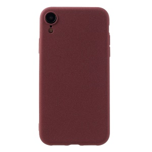 Matte TPU Case Skin-touch Back Protector Cover for iPhone XR 6.1 inch - Wine Red
