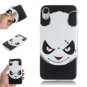 Pattern Printing IMD TPU Protection Case for iPhone XR 6.1 inch - Angry Panda