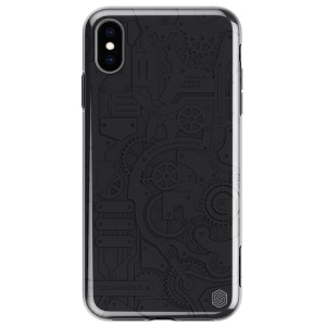 NILLKIN Machinery Detachable PC + Embossment TPU Case for iPhone XS Max 6.5 inch - Black