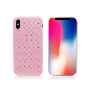 PRODA Tiragor Series Woven Texture Heat Dissipation TPU Case for iPhone XS / X - Pink