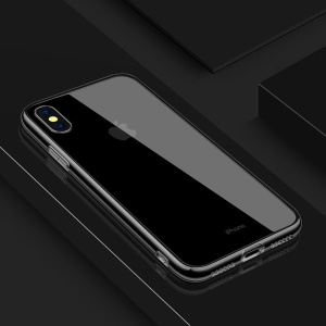 Clear Transparent Slim Fit Glass Cover +TPU Hybrid Bumper Protective Case for iPhone XS Max 6.5 inch