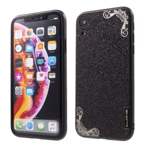 DLONS Lai Ya Series Glitter Powder PC and TPU Hybrid Case for iPhone XR 6.1 inch - Black