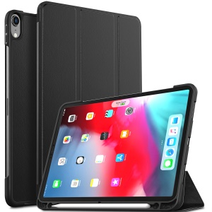 For iPad Pro 11-inch (2018) Tri-fold Stand PU Leather Smart Case with Stylus Pen Holder