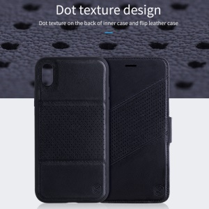 NILLKIN Folio Case for iPhone XS Max 6.5 inch Multifunctional 2-in-1 Dot Texture PU Leather Case