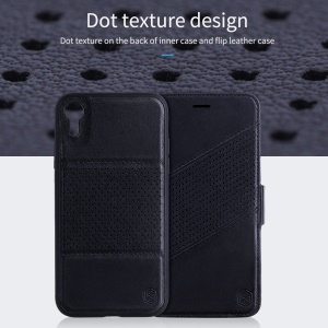 NILLKIN Multifunctional 2-in-1 Dot Texture PU Leather Wallet Case for iPhone XR 6.1 inch