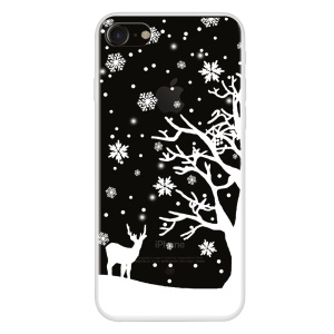 For iPhone 8/7 4.7 inch Pattern Printing Soft TPU Case - Tree and Deer