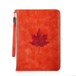 Imprint Marple Pattern Wallet Leather Handheld Tablet Case with Strap for Apple iPad mini 4 / 3 / 2 / 1 - Orange