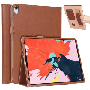 For iPad Pro 11-inch (2018) Vintage Style Smart PU Leather Case with Stand - Brown