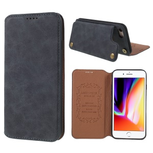 Retro Style PU Leather Card Slot Case with Kickstand for iPhone 8/7 4.7 inch - Grey