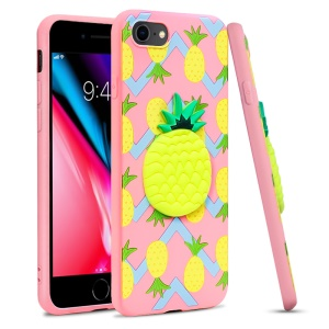 IMAK Stereoscopic Soft TPU Protection Case for iPhone 8 / 7 4.7 inch - Pineapple