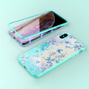 NILLKIN Blossom Case for iPhone XS Max 6.5 inch Magnetic Adsorption Tempered Glass and PC Case