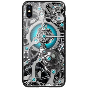 NILLKIN Spacetime Case for iPhone XS / X 5.8 inch PC TPU Tempered Glass Hybrid Case