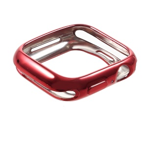Electroplated TPU Protective Case for Apple Watch Series 4 44mm - Red