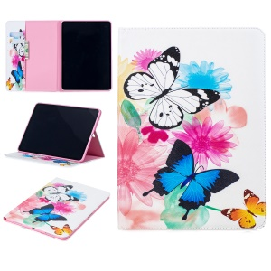Pattern Printing Leather Wallet Tablet Case for iPad Pro 11-inch (2018) - Vivid Butterflies