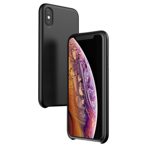 BASEUS Liquid Silicone Gel Case for iPhone XS 5.8 inch - Black