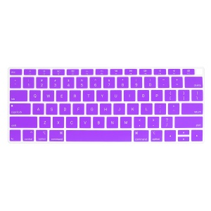 ENKAY Silicone Keyboard Guard Protector Film Cover for MacBook Air 13-inch with Retina Display 2018 A1932 (US Version) - Purple