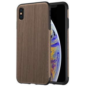 ROCK Wood Element Series Wood Slice + TPU Case for iPhone XS Max 6.5 inch - Black Rosewood