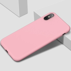 X-LEVEL Fashion Series Liquid Silicone Phone Case for iPhone XS / X 5.8 inch - Pink