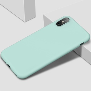 X-LEVEL Fashion Series Liquid Silicone Mobile Casing for iPhone XS / X 5.8 inch - Blue