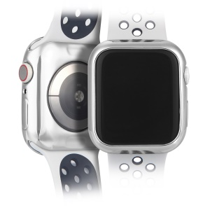 DUX DUICS Flexible Electroplating TPU Case for Apple Watch Series 4 40mm - Silver