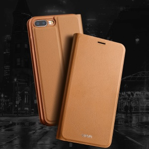 X-LEVEL Wallet Leather Stand Flip Case for iPhone 8 Plus / 7 Plus 5.5 inch - Brown