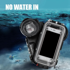 60M/195ft Underwater Diving Waterproof Case with Fisheye Lens for iPhone X / 6 / 7 / 8 [Support Photo and Record Videos]