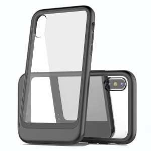Shockproof Clear PC and TPU Hybrid Case for iPhone XS Max 6.5 inch - Black