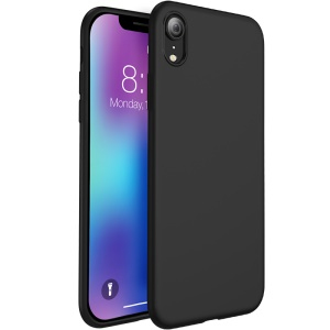 X-LEVEL Fashion Series Liquid Silicone Mobile Cover for iPhone XR 6.1 inch - Black