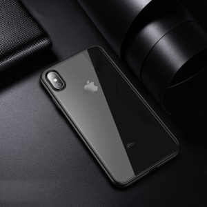 IPAKY Clear PC and TPU Hybrid Shockproof Cover for iPhone XS 5.8 inch - Black