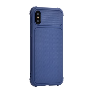 DEVIA Anti-slip TPU Protection Case for iPhone XS / X 5.8 inch - Blue