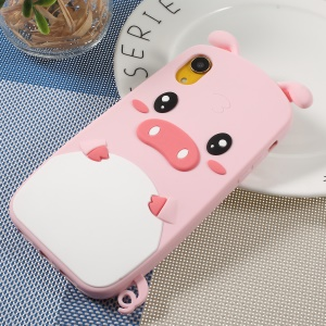 For iPhone XR 6.1 inch 3D Cute Pig Pattern Soft Silicone Phone Protective Cover