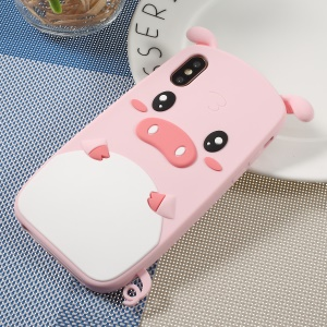 For iPhone XS/X 3D Cute Pig Pattern Soft Silicone Phone Protective Case