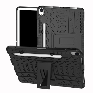 Cool Tyre Kickstand PC + TPU Hybrid Case with Pen Slot for iPad Pro 11-inch (2018) - Black