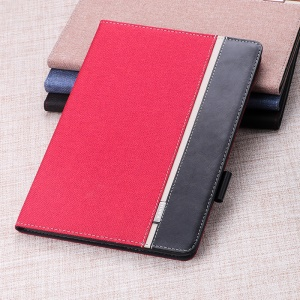 Cloth Texture Bi-color Leather Smart Case for iPad Mini 4 / 3 / 2 / 1 - Red