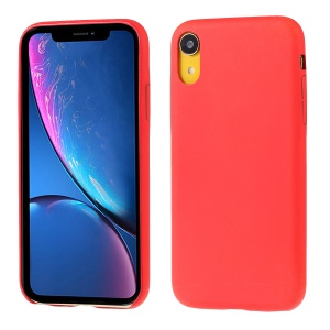 For iPhone XR 6.1 inch Phone Case [Thermal Sensor Color Changing] PU Leather Coated PC Case - Red
