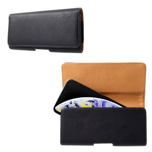 For iPhone XS Max 6.5 inch Belt Clip PU Leather Phone Pouch Case
