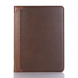 For iPad Pro 11-inch (2018) Contrast Color Leather Smart Case [Stand Wallet] - Coffee
