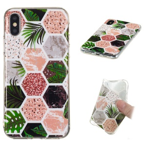 Marble Pattern Printing IMD TPU Protective Case for iPhone XS / X 5.8 inch - Style G