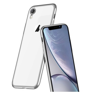 X-LEVEL Ultra-thin Electroplating Edges Soft TPU Casing (Support Wireless Charging) for iPhone XR 6.1 inch - Silver