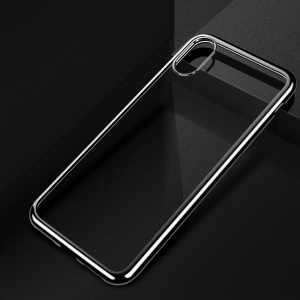 X-LEVEL Ultra-thin Electroplating Edges Soft TPU Case (Support Wireless Charging) for iPhone XS Max 6.5 inch - Black