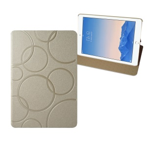 Circles Pattern Leather Stand Case for iPad Mini 1/2/3 - Champagne