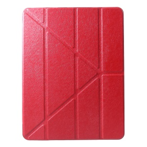 PU Leather Origami Stand Protective Case for iPad Pro 12.9-inch (2018) - Red