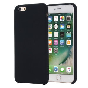 Edge Wrapped Liquid Silicone Cover Shell for iPhone 6s/6 - Black