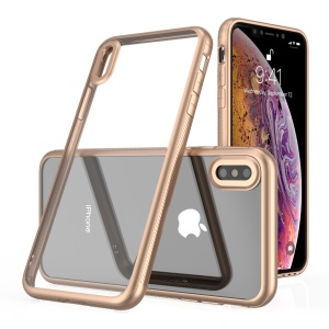 LEEU DESIGN Voice Conversion Electroplating Hybrid Mobile Phone Case for iPhone XS / X 5.8 inch - Gold