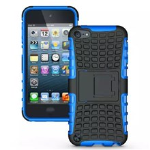 PC+TPU Hybrid Kickstand Case Shell for iPod Touch 5 6 - Blue