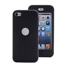 TPU + PC Hybrid Back Case for iPod Touch 6 - Black