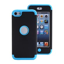 TPU + PC Hybrid Phone Cover for iPod Touch 6 - Dark Blue / Black