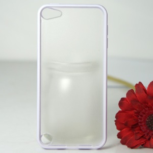 For iPod Touch 5 Protective PC+TPU Hybrid Cover - White