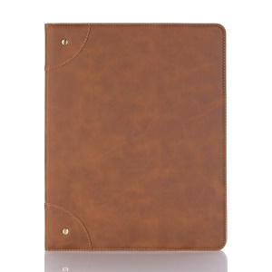 For iPad Pro 12.9-inch (2018) PU Leather Smart Tablet Case - Brown
